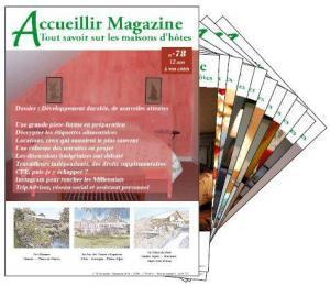 Accueillir Magazine et le développement durable pour les loueurs de chambres d'hôtes